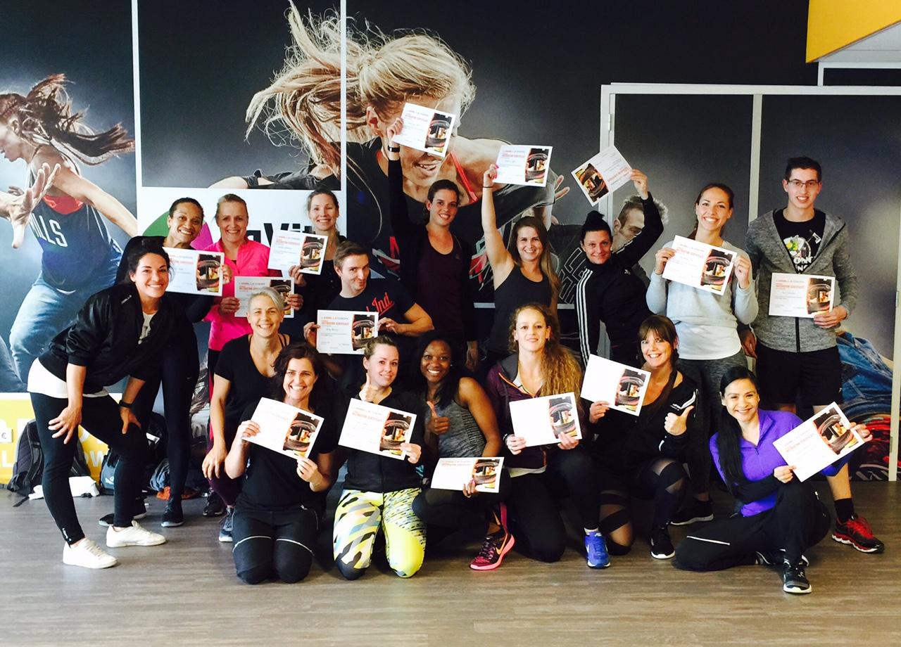psycholoog en nationaal Bodybalance trainer Louise Hildebrand geslaagd voor CXWORX